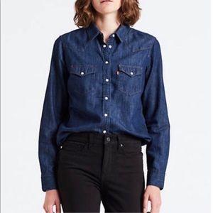 Levi's Denim/Jean Button Down Top/Shirt Large